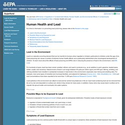 Human Health and Lead, Addressing Lead at Superfund Sites