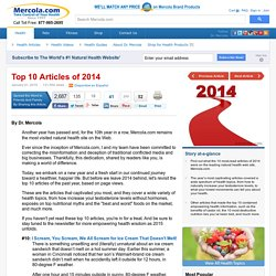 Top 10 Health Articles of 2014 from Mercola.com