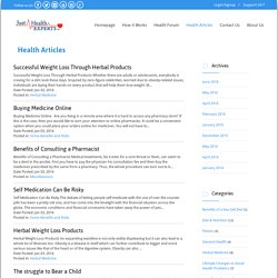 Health Articles - Just Health Experts