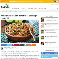 Health Benefits Of Barley + Barley Recipes