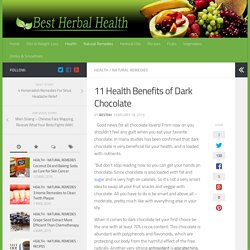 11 Health Benefits of Dark Chocolate - Best Herbal Health