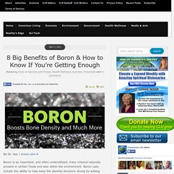 8 Big Health Benefits of Boron