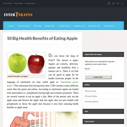 Scientifically known health benefits of apple