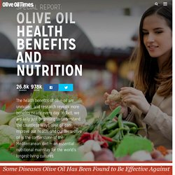 Olive Oil Health Benefits and Nutrition