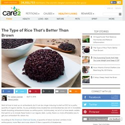 Health Benefits Of Black Rice