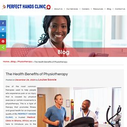 The Health Benefits of Physiotherapy