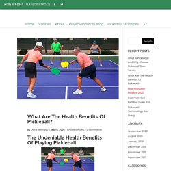 Health Benefits Of Pickleball You Should Know About