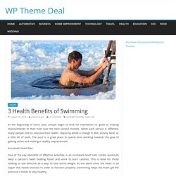 3 Health Benefits of Swimming