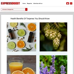 Health Benefits Of Terpenes You Should Know