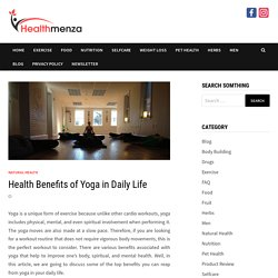 Health Benefits of Yoga in Daily Life