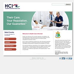 Health Care Informed (HCI) :: Home