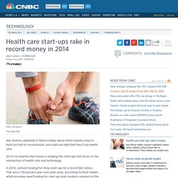 Health care start-ups rake in record money in 2014