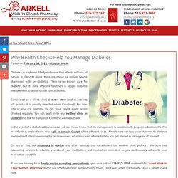 Why Health Checks Help You Manage Diabetes