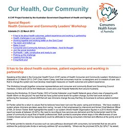 Our Health Our Community Special Report - Sydney