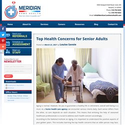 Top Health Concerns for Senior Adults