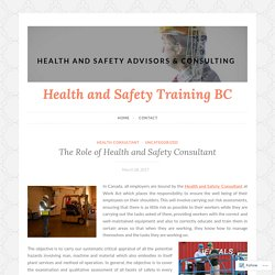 The Role of Health and Safety Consultant