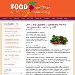 Low Carb Diet and Gut Health: Are we doing more harm than good? — Food Sense Nutrition