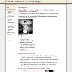 Health Issues - The Child Labor Education Project