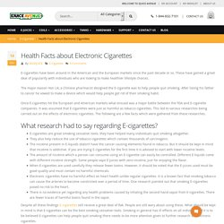 Health Facts about Electronic Cigarettes