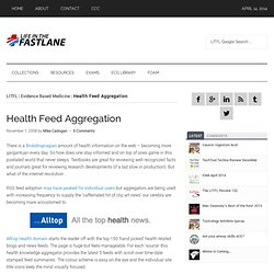 Health Feed Aggregation