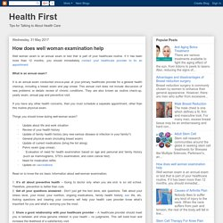 Health First: How does well woman examination help