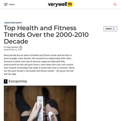 Top Health and Fitness Trends Over the 2000-2010 Decade