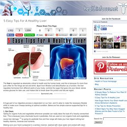 Health In Focus 5 Easy Tips For A Healthy Liver - Health In Focus