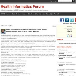 Health Informatics Forum Massive Open Online Course (MOOC) - Health Informatics Forum
