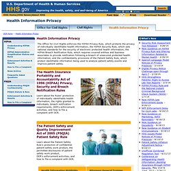 Health Information Privacy