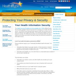 Learn more about your Health Information Security rights