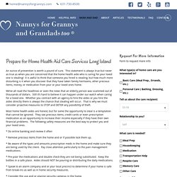 Nannys For Grannys Offers Senior Home Care NY