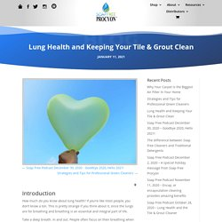 Lung Health and Keeping Your Tile & Grout Clean - Soap Free Procyon