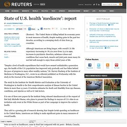 State of U.S. health 'mediocre': report