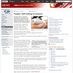People 'still willing to torture' - Artikel fra BBC News