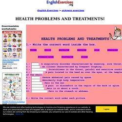 HEALTH PROBLEMS AND TREATMENTS!