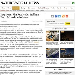 Deep Ocean Fish Face Health Problems Due to Man-Made Pollution