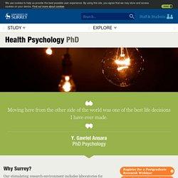 University of Surrey Health Psychology PhD