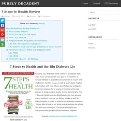 7 Steps to Health Review - Purely Decadent