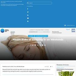 Health Risks of Sleeping in on Weekends