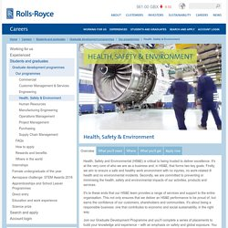 Health, Safety & Environment – Rolls-Royce