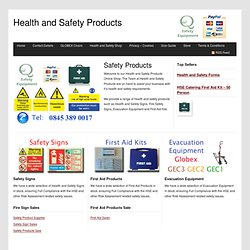 Health and Safety Products – Online Shop