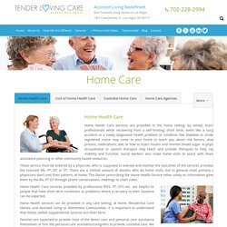 Home Health Care & Senior Housing Services in Las Vegas