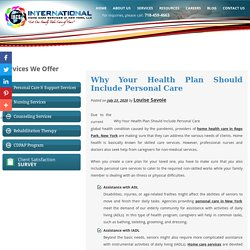Why Your Health Plan Should Include Personal Care
