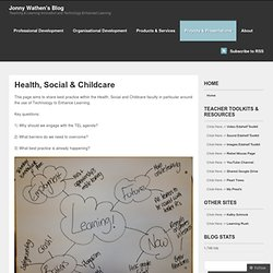 Health, Social & Childcare