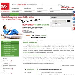 Health Suraksha- Health Insurance Plan from HDFC ERGO