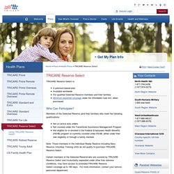 Health Plans - TRICARE Reserve Select