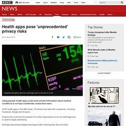 Health apps pose 'unprecedented' privacy risks