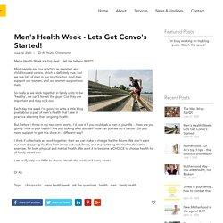 Men's Health Week - lets get convo's started!
