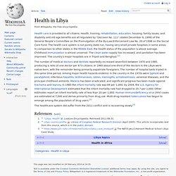 Health in Libya