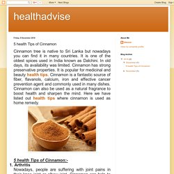healthadvise: 5 health Tips of Cinnamon